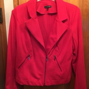 Lane Bryant red jacket with zipper side pocket s
